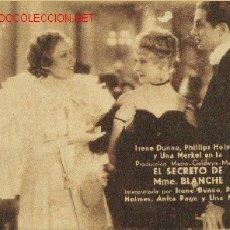 Cine: EL SECRETO DE MME. BLANCHE. Lote 26418907