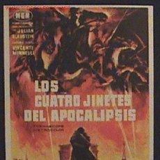 Cine: ANTIGUO PROGRAMA DE MANO - LOS CUATRO JINETES DEL APOCALIPSIS - GLEN FORD - DE CONSE. Lote 2140617