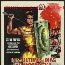 Cine: LOS ULTIMOS DIAS DE POMPEYA. Lote 21990357