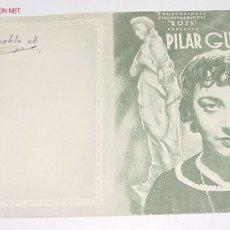 Cine: ANTIGUO PROGRAMA DE MANO - PILAR GUERRA - DOBLE SIN PUBLICIDAD.. Lote 2205709