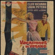 Cine: P-1886- VACACIONES DE VERANO (SUMMER HOLIDAY) (CINE ALEGRIA - ALMENDRALEJO) CLIFF RICHARD. Lote 24025247