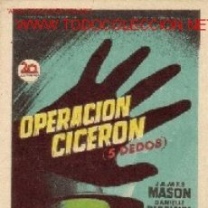 Cine: OPERACION CICERON. Lote 22514780