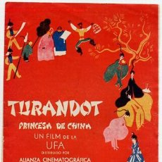 Cine: TURANDOT, PROGRAMA DOBLE , UFA. Lote 16130920