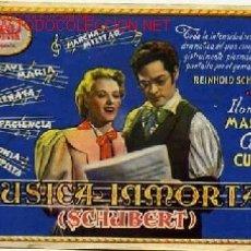 Cine: MUSICA INMORTAL. Lote 22481793