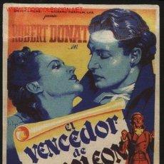 Cine: P-4560- EL VENCEDOR DE NAPOLEON (THE YOUNG MR. PITT) (SOLIGÓ) ROBERT DONAT, ROBERT MORLEY. Lote 23618555