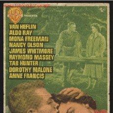 Cine: P-7780- MAS ALLA DE LAS LAGRIMAS (BATTLE CRY) (CINE MORAN - PONFERRADA) VAN HEFLIN - ALDO RAY. Lote 22577917