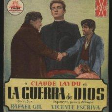 Cine: P-5635- LA GUERRA DE DIOS (DOBLE) CLAUDE LAYDU - FRANCISCO RABAL. Lote 198734580