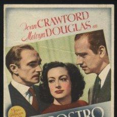 Cine: P-4557- UN ROSTRO DE MUJER (A WOMAN'S FACE) JOAN CRAWFORD - MELVYN DOUGLAS - CONRAD VEIDT. Lote 24831750