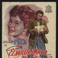 Cine: P-4238- EL MILLONARIO (THE MILLION POUND NOTE) (CINE AVENIDA) GREGORY PECK - RONALD SQUIRE. Lote 24919436