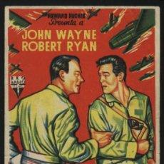 Cine: P-5756- INFIERNO EN LAS NUBES (FLYING LEATHERNECKS) JOHN WAYNE - ROBERT RYAN - DON TAYLOR. Lote 25139324