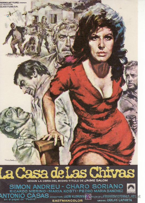 LA CASA DE LAS CHIVAS.PARAMOUNT FILMS.SIN PROPAGANDA.. (Cine - Folletos de Mano)