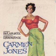 Cine: CINE- COLECCION.PROGRAMA DE MANO. JANO .AÑO 1963. CARMEN JONES.. Lote 19777229