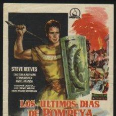 Cine: P-2149- LOS ULTIMOS DIAS DE POMPEYA (STEVE REEVES - CHRISTINE KAUFMANN - FERNANDO REY). Lote 25261641