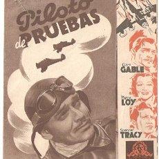 Cine: PILOTO DE PRUEBAS PROGRAMA DOBLE MARRON MGM CLARK GABLE MYRNA LOY SPENCER TRACY. Lote 9965427