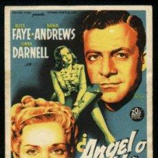 Cine: P-7181- ANGEL O DIABLO (FALLEN ANGEL) (SOLIGÓ) DANA ANDREWS - ALICE FAYE - LINDA DARNELL. Lote 25433227