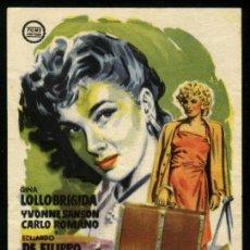 Cine: P-2224- RENUNCIACION (CAMPANE A MARTELLO) (CINES BOHEMIO Y GALILEO) GINA LOLLOBRIGIDA. Lote 25464211