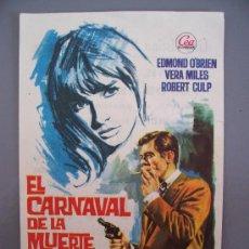 Cine: FOLLETO DE MANO ´EL CARNAVAL DE LA MUERTE´ EASTMAN COLOR. Lote 10066881