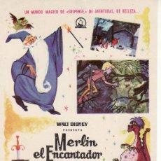 Cine: WALT DISNEY.MERLIN EL ENCANTADOR.(LA ESPADA EN LA PIEDRA)COLECCION PROGRAMA CINE.. Lote 26822949