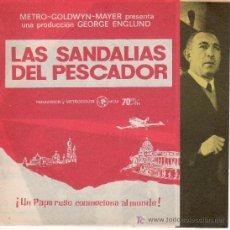Cine: DESPLEGABLE-LAS SANDALIAS DEL PESCADOR.COLECCION PROGRAMA CINE.ANTHONY QUINN. Lote 26376738