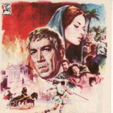 Cine: BARRABÁS. AÑO 1962-PROGRAMA DE MANO-SIN PROPAGANDA.. Lote 27060179