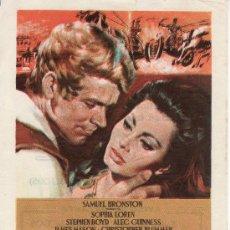 Cine: LA CAIDA DEL IMPERIO ROMANO.PROGRAMA DE MANO-SIN PROPAGANDA.CINE COLECCION RASTRILLOPORTOBELLO. Lote 25212024