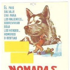 Cine: NOMADAS DEL NORTE NIKKI PROGRAMA SENCILLO CHAMARTIN WALT DISNEY E. Lote 10226156