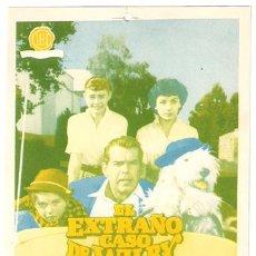Cine: EL EXTRAÑO CASO DE WILBY PROGRAMA SENCILLO HISPAMEX FRED MACMURRAY JEAN HAGEN WALT DISNEY D. Lote 10226572