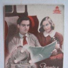 Flyers Publicitaires de films Anciens: FOLLETO DE MANO DOBLE - LA CULPA FUE DEL TREN - CIFESA PAOLO STOPPA GINO BECCHI CIFESA. Lote 10357855