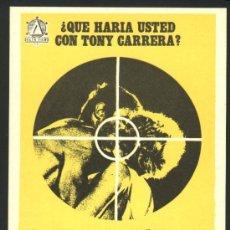 Cine: P-0301- EL MAGNIFICO TONY CARRERA (THOMAS HUNTER - GILA VON WEITERSHAUSEN - FERNADO SANCHO). Lote 155984920