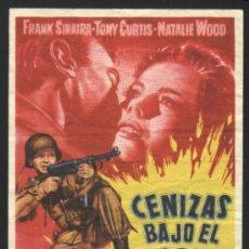 Cine: P-1118- CENIZAS BAJO EL SOL (FRANK SINATRA - TONY CURTIS - NATALIE WOOD - KARL SWENSON - LEORA DANA). Lote 26470519