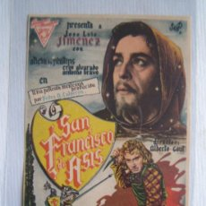 Flyers Publicitaires de films Anciens: FOLLETO DE MANO - SAN FRANCISCO DE ASIS - HISPANO MEXICANA JOSE LUIS JIMENEZ ALICIA DE PHILLIPS. Lote 10553424