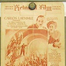Cine: EL FANTASMA DE LA OPERA PROGRAMA DOBLE GRANDE PERIODICO ESPAÑOL USA LON CHANEY EN ESPAÑOL. Lote 10672410
