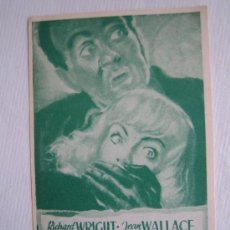 Flyers Publicitaires de films Anciens: FOLLETO DE MANO - ESCLAVOS DEL MIEDO - MONOCOLOR - SOLIGO (SIN FIRMAR). Lote 10852945