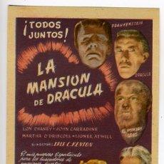 Cine: LA MANSION DE DRACULA , SENCILLO , EL RARO , S1396. Lote 19580068