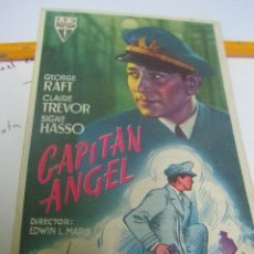 Cine: + ZARAGOZA. CINE GOYA. CAPITAN ANGEL. GEORGE RAFT. AÑO 1948. PEQUEÑO RESTO DE PEGAMENTO. Lote 10829804