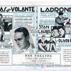 Cine: EL AS DEL VOLANTE Y LADRONES DE STAN LAUREL Y OLIVER HARDY , URUGUAY , AÑOS 30 ,S1443. Lote 15233548