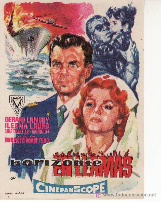 HORIZONTE EN LLAMAS- COLECCION -PROGRAMAS DE CINE Y MAS EN RASTRILLOPORTOBELLO (Cine - Folletos de Mano)