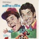 Cine: PROGRAMA DE CINE ORIGINAL- COLECCIONALOS. EL JINETE LOCO. DEAN MARTIN, JERRY LEWIS. Lote 32011457