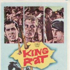 Cine: KING RAT - PROGRAMAS DE CINE Y MAS EN RASTRILLOPORTOBELLO. Lote 11140330