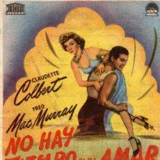 Cine: SABOYA,CASTELLON-NO HAY TIEMPO PARA AMAR-CLAUDETTE COLBERT,FRED MAC MURRAY. Lote 11160861