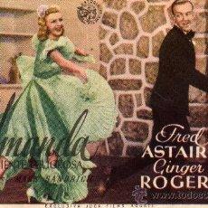 Cine: CAPITOL,ESTRENO EN ESPAÑA-AMANDA LA PACIENTE PELIGROSA-FRED ASTAIRE,GINGER ROGERS. Lote 24364612