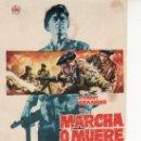 Cine: MARCHA O MUERE -MIRE MAS PROGRAMAS DE CINE EN RASTRILLOPORTOBELLO-COLECCIONALOS!. Lote 26822947