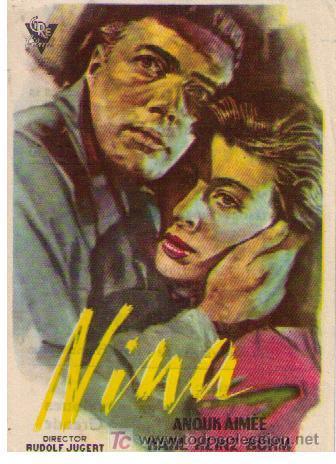 NINA.SENCILLO DE CIRE FILMS. CINE MERIDIANA (Cine - Folletos de Mano - Drama)