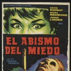 Cine: P-2622- EL ABISMO DEL MIEDO (DAVID KNIGHT - MOIRA REDMOND - JENNIE LINDEN - BRENDA BRUCE). Lote 18358110