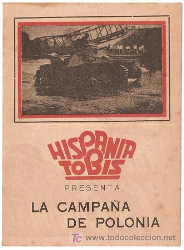 LA CAMPAÑA DE POLONIA PROGRAMA DOBLE HISPANIA TOBIS DOCUMENTAL ALEMAN SEGUNDA GUERRA MUNDIAL (Cine - Folletos de Mano - Documentales)