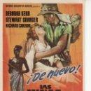 Cine: LAS MINAS DEL REY SOLOMON. PROGRAMA DE MANO -AÑO 1963 METRO GOLDWYN MAYER. Lote 27010562