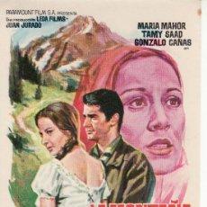 Cine: LA MONTAÑA REBELDE-PROGRAMA DE MANO -COLECCIONISMO EN GENERAL-RASTRILLOPORTOBELLO. Lote 26053619