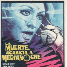 Cine: LA MUERTE ACARICIA A MEDIANOCHE-PROGRAMA DE MANO -COLECCIONISMO EN GENERAL-RASTRILLOPORTOBELLO. Lote 24536826