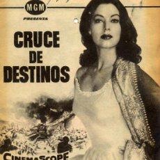 Cine: CRUCE DE DESTINOS (FOLLETO DE MANO ORIGINAL). Lote 25452725
