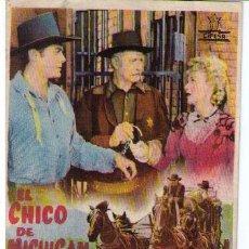 Cine: EL CHICO DE MICHIGAN.SENCILLO DE UNIVERSAL INTERNACIONAL. CINEMA RÁBIDA.. Lote 11438164